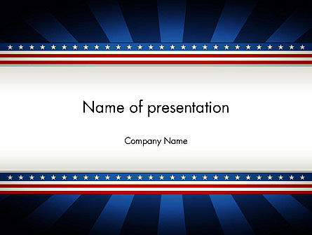 American Festive Theme PowerPoint Template, 11865, Holiday/Special Occasion — PoweredTemplate.com
