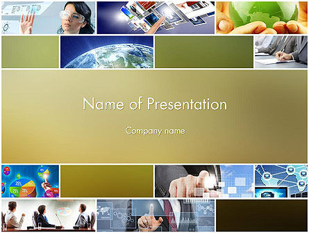 Global Technology PowerPoint Template, 11866, Technology and Science — PoweredTemplate.com