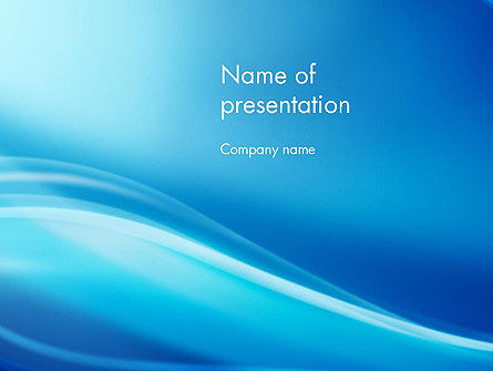 Abstract/Textures: Blue Wave Background PowerPoint Template #11868