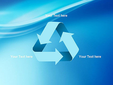 Blue Wave Background PowerPoint Template Slide 10