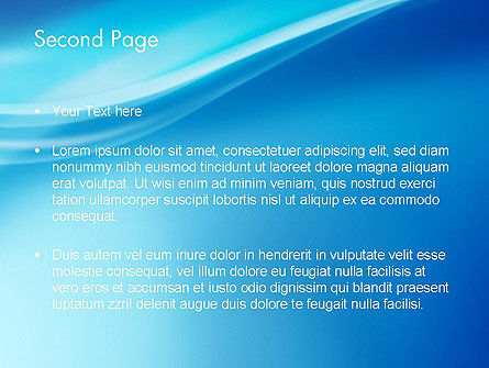 Blue Wave Background PowerPoint Template Slide 2