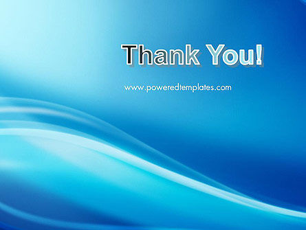 Blue Wave Background PowerPoint Template Slide 20