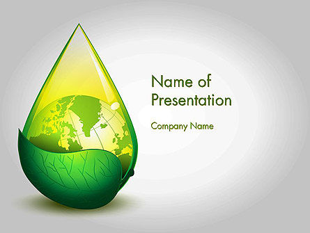 Green Cleaning PowerPoint Template, 11870, Nature & Environment — PoweredTemplate.com