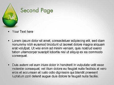 Green Cleaning PowerPoint Template, Slide 2, 11870, Nature & Environment — PoweredTemplate.com