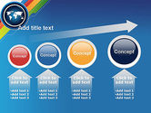 World Map and Colorful Stripes PowerPoint Template#13