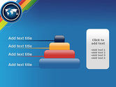 World Map and Colorful Stripes PowerPoint Template#8