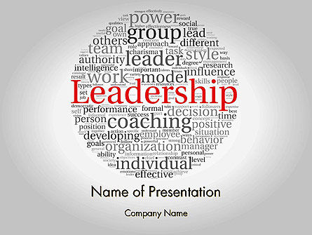 Leadership Word Cloud PowerPoint Template, 11873, Education & Training — PoweredTemplate.com