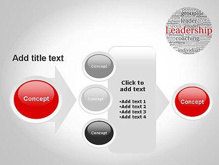 Leadership Word Cloud PowerPoint Template Slide 17