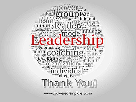 Leadership Word Cloud PowerPoint Template Slide 20