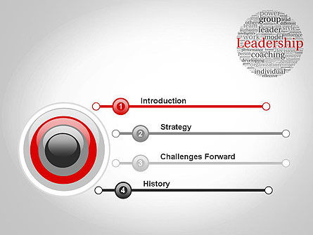 Leadership Word Cloud PowerPoint Template, Slide 3, 11873, Education & Training — PoweredTemplate.com