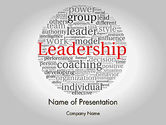 Education & Training: Leadership Word Cloud PowerPoint Template #11873
