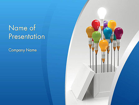 Creative Design Thinking PowerPoint Template, 11874, Art & Entertainment — PoweredTemplate.com