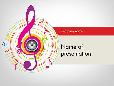 Violin Key PowerPoint Template, 11875, Art & Entertainment — PoweredTemplate.com