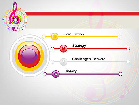 Violin Key PowerPoint Template Slide 3