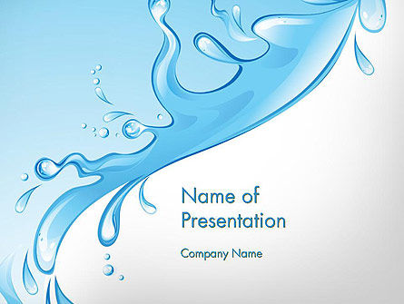 Beautiful Water Splash Powerpoint Template, Backgrounds | 11877