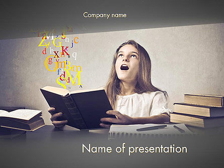Education & Training: Child Imagination PowerPoint Template #11879