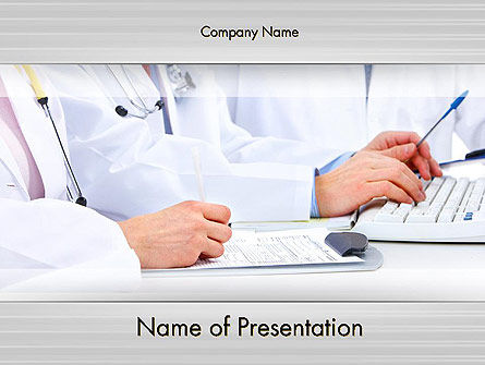 Medical: Occupational Medicine PowerPoint Template #11880