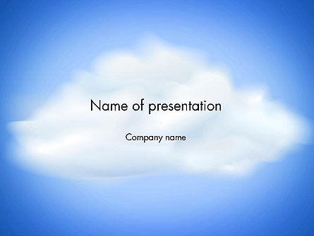 Nature & Environment: Fluffy Cumulus Cloud PowerPoint Template #11881