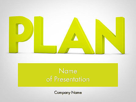 Word PLAN PowerPoint Template, 11882, Business Concepts — PoweredTemplate.com