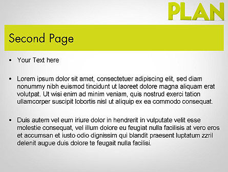 Word PLAN PowerPoint Template, Slide 2, 11882, Business Concepts — PoweredTemplate.com