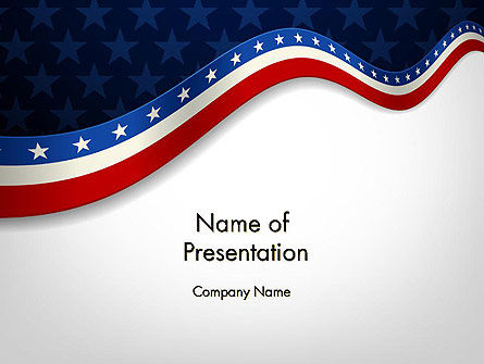 July 4th Banner PowerPoint Template