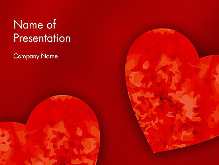 Pair of Hearts PowerPoint Template