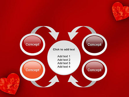 Pair of Hearts PowerPoint Template Slide 6