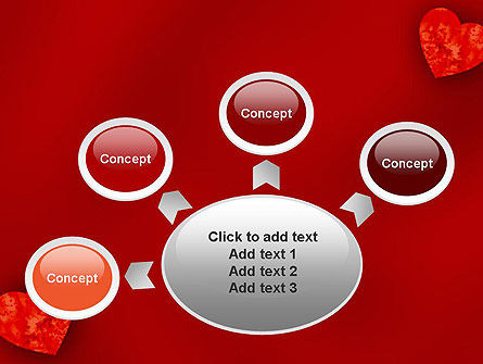 Pair of Hearts PowerPoint Template Slide 7