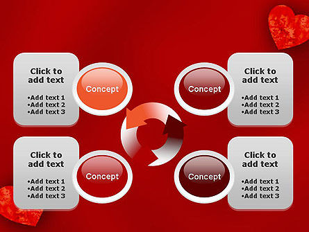 Pair of Hearts PowerPoint Template Slide 9