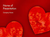 Holiday/Special Occasion: Pair of Hearts PowerPoint Template #11886