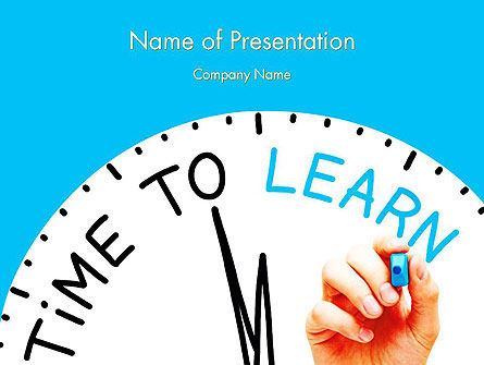 Education & Training: Time to Learn PowerPoint Template #11887