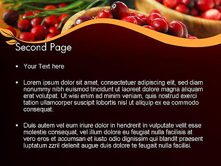 Cranberries PowerPoint Template, Slide 2, 11888, Food & Beverage — PoweredTemplate.com
