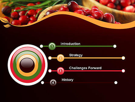 Cranberries PowerPoint Template, Slide 3, 11888, Food & Beverage — PoweredTemplate.com