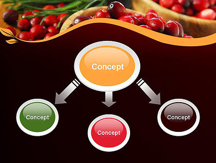 Cranberries PowerPoint Template, Slide 4, 11888, Food & Beverage — PoweredTemplate.com
