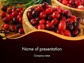 Food & Beverage: Cranberries PowerPoint Template #11888