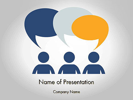 Chat PowerPoint Template, 11889, Business Concepts — PoweredTemplate.com