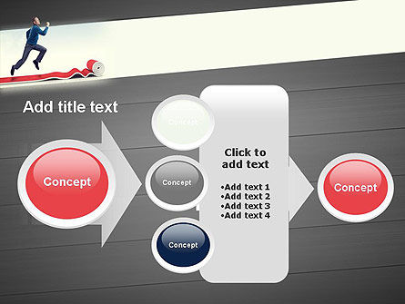 Man Running On Rolling Red Carpet PowerPoint Template Slide 17