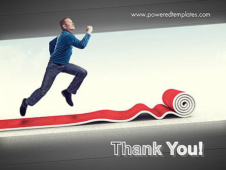 Man Running On Rolling Red Carpet PowerPoint Template Slide 20