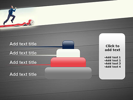 Man Running On Rolling Red Carpet PowerPoint Template Slide 8