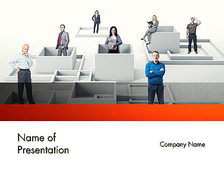Crowdsourcing PowerPoint Template, 11892, Careers/Industry — PoweredTemplate.com