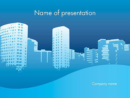 Urban City PowerPoint Template, 11893, Construction — PoweredTemplate.com