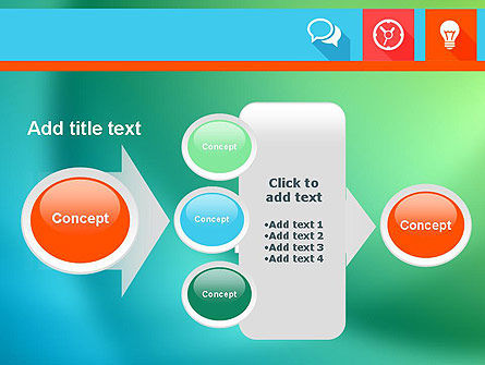 Flat Icons with Shadow PowerPoint Template Slide 17