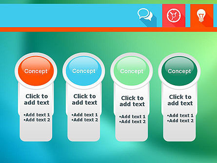 Flat Icons with Shadow PowerPoint Template Slide 5