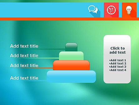 Flat Icons with Shadow PowerPoint Template Slide 8