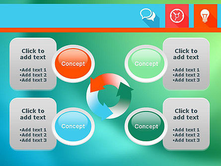 Flat Icons with Shadow PowerPoint Template Slide 9