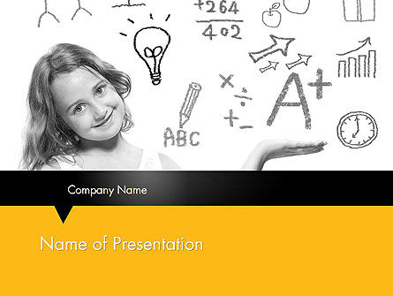 School Girl PowerPoint Template, 11897, Education & Training — PoweredTemplate.com