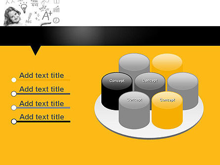 School Girl PowerPoint Template Slide 12