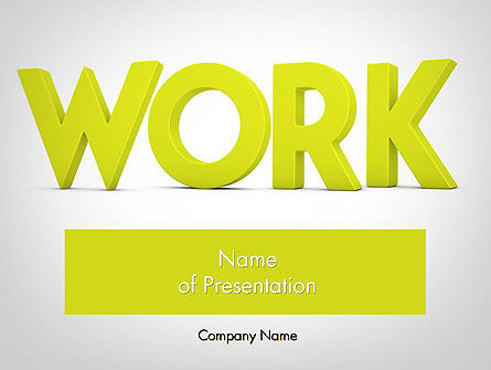 Word WORK PowerPoint Template, 11898, Business Concepts — PoweredTemplate.com