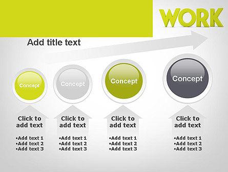Word WORK PowerPoint Template Slide 13