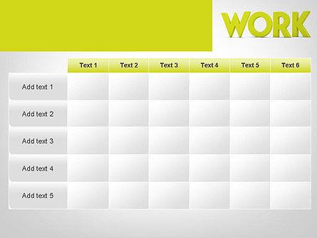 Word WORK PowerPoint Template Slide 15